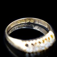 Antique Edwardian Old Cut Diamond Five Stone 18K Gold Ring (2 of 10)