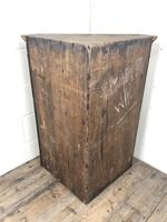 Antique Georgian Oak Hanging Corner Cupboard with Brass Knobs (2 of 9)