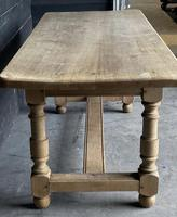 French Bleached Oak Farmhouse Kitchen Table (5 of 25)