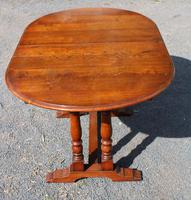1940s Slim Oak Draw-leaf Table with 1 Leaf (2 of 3)