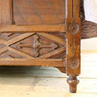 Gothic Style Single Walnut Antique Bed (7 of 8)