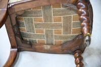 Walnut Barley Twist Bedroom Chair (3 of 13)