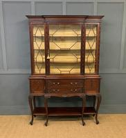 Carved Mahogany Display Cabinet by Warings (3 of 19)