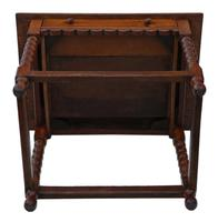 Georgian and Later Oak Writing Side Occasional Table with Drawer c.1800 (9 of 9)