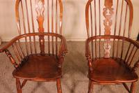 Near Pair of English Windsor Armchairs - 19th Century (11 of 11)