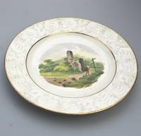 Good Staffordshire Pottery Painted Hand Painted Plate by Wilson c.1810 (2 of 6)