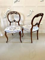 Quality Antique Victorian Pair of Walnut Side Chairs