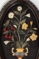 Attractive Pair of Late 19th Century Pietra Dura Pictures (3 of 4)