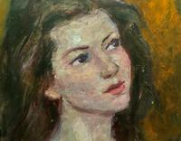 Wonderful Vintage Oil Portrait Painting of Italian Beauty from Maddalena (8 of 10)
