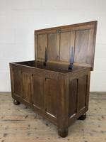 Vintage Oak Panel Blanket Box or Coffer Chest (12 of 15)