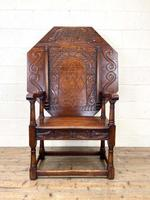 Large Early 20th Century Antique Oak Monk's Seat (3 of 10)