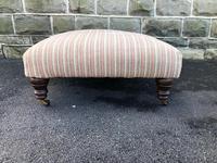 Large Oversized Upholstered Footstool (2 of 5)