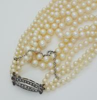 Pearls with Marcasite Clasp