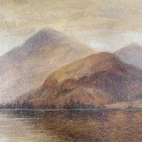 Antique Landscape Oil Painting of Scottish Loch (6 of 9)