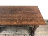 Early 20th Century Antique Oak Refectory Table (M-1739) (8 of 16)