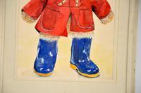 Vintage Paddington Bear Original Watercolour Painting (5 of 8)