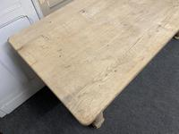 French Rustic Bleached Oak Farmhouse Kitchen Table (4 of 23)