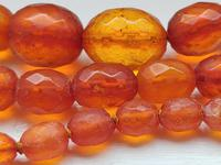 Antique Graduated Faceted Amber Beads Necklace 26 gr for Spare or re Stringing (2 of 11)
