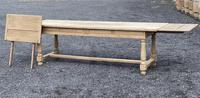 Large Bleached Oak Farmhouse Dining Table with Extensions & Storage (31 of 35)