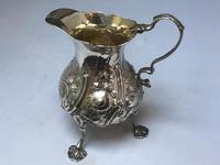 George II Solid Silver Cream Jug (4 of 6)