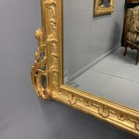 Large French gilt overmantle mirror 185cm (7 of 8)