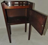 George III Mahogany Tray Top Bedside Cabinet (6 of 9)