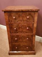 Superb Pair of Antique Burr Walnut Bedside Chests (3 of 6)