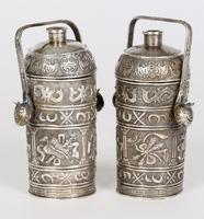 Chinese Pair of Qing Silver Metal Handled Lidded Containers (7 of 22)