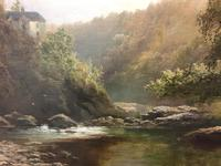 George Henry Jenkins 'A Devon River Landscape' Oil on Canvas Painting (11 of 12)