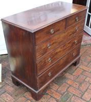 1900's Mahogany Chest Drawers with Inlay on Bracket Feet (3 of 4)