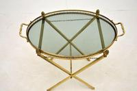 Vintage French Brass Folding Side Table (4 of 8)