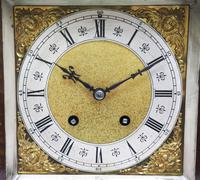 Wow! Superb Antique German Burr Walnut 8-Day Mantel Clock Striking Bracket Clock by Lenzkirch (10 of 10)