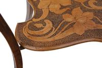 Shaped Beech Pokerwork Occasional Side Table c.1900 (4 of 6)