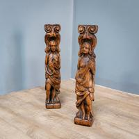 Pair of Bird & Lute Carved Figures (3 of 9)