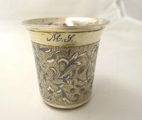 Imperial Russian Silver Gilt & Niello Tot Beaker, фм Moscow 1846 (2 of 6)