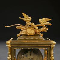 French 8 Day Striking Four Glass Ormolu Clock by Samuel Marti Paris, 19th Century (10 of 11)