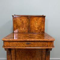 Spectacular Quality Victorian Figured Walnut Antique Davenport (6 of 9)