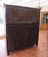 Country Oak Court Cupboard 1734 Carved Initials RTK (6 of 14)