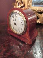 Small Edwardian Period Inlaid Mantel Clock (5 of 9)