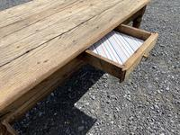 Rustic Bleached Oak Coffee Table (6 of 11)