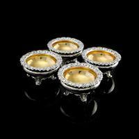 Magnificent Set of 4 Georgian Solid Silver Salts - Barnard 1837 (2 of 22)