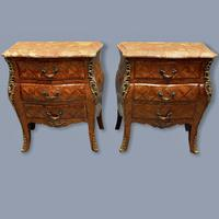 Pair of Italian Parquetry Bedside Commodes (8 of 8)