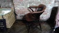 Gillows Quality Leather Backed Desk Chair with Refinements (4 of 5)