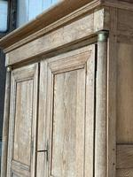 Wonderful French Empire Period Bleached Oak Linen Press (8 of 32)