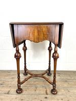 19th Century Walnut Drop Leaf Side Table (11 of 11)
