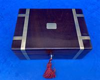 Georgian Solid Mahogany Brassbound Miniature Campaign Box (9 of 9)
