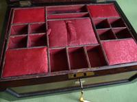 Large Inlaid Rosewood Jewellery – Work Box + Tray c.1840 (10 of 12)