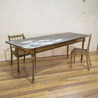 18th Century Faux Quilted Maple Painted Swedish Table (6 of 16)