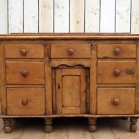 19th Century Pine Dresser Base (5 of 14)