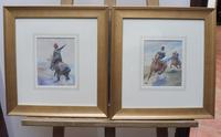 Pair of Victorian Watercolours The Hussars Artist George Clark (4 of 10)